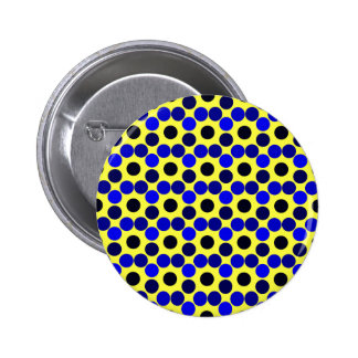 Seeing Dots Black and Blue BUTTON