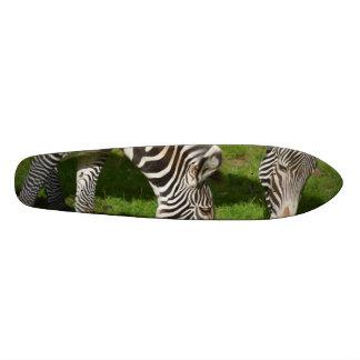 Seeing Double Zebras Custom Skate Board