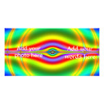 Seeing in Fluorescent Neon Fractal Customised Photo Card