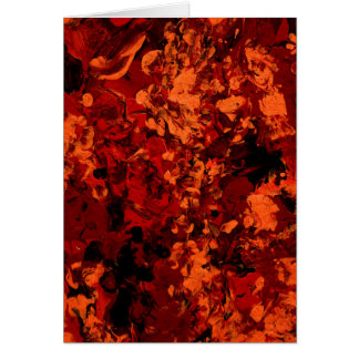 SEEING RED an abstract art design in red & orange Greeting Card