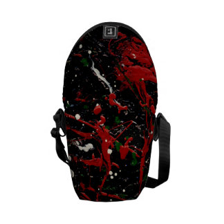 SEEING RED TOO (an abstract art design) ~ Commuter Bag