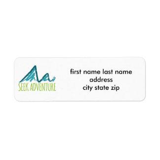 Seek Adventure Return Address Label