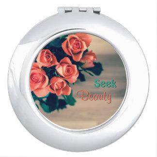 Seek Beauty Circle Compact Mirror