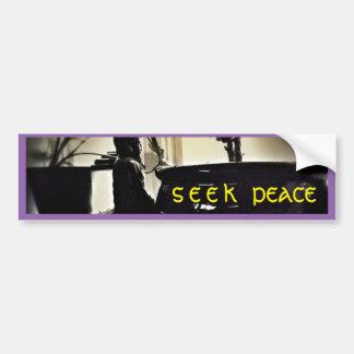 Seek Peace - Buddha Bumper Sticker