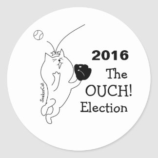 SeekerCat Ouch Election Round Sticker