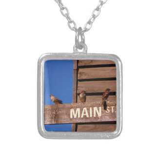 Seeking Direction Silver Plated Necklace