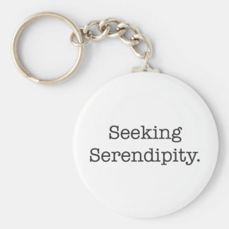 Seeking Serendipity Key Ring