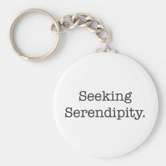 Seeking Serendipity Key Ring