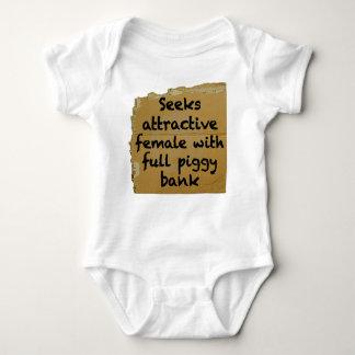 Seeks Female With Full Piggy Bank T-shirts