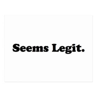 Seems Legit. Postcard