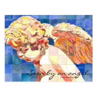 """Seen by an angel"" Postcard"