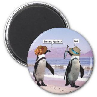 seen my herring? 6 cm round magnet