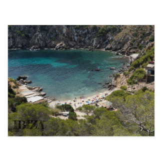 seen postcard of a beach in Ibiza