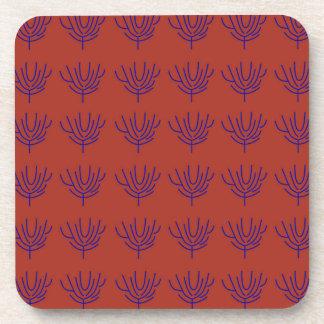 Seeweeds design Ethno elements Coaster