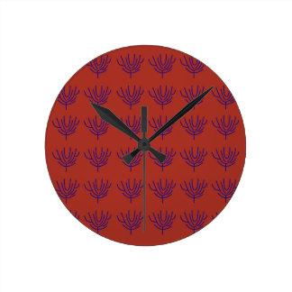 Seeweeds design Ethno elements Round Clock