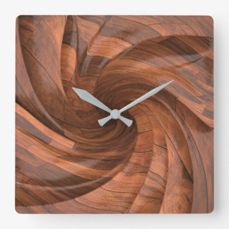 Segmented wood design wall clock