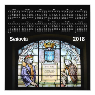 Segovia, Spain 2018 calendar magnetic card