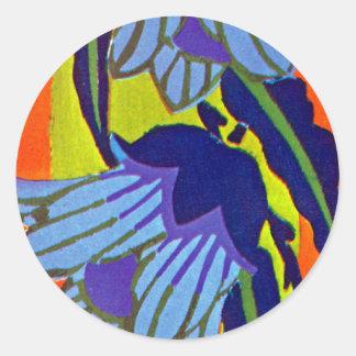 Seguy s Art Deco 4 at Emporio Moffa Round Sticker