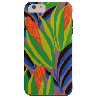 Seguy's Art Deco Tropical Flowers Tough iPhone 6 Plus Case