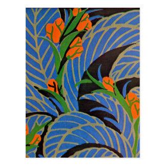Seguy's Art Deco Tropical Night - Postcard