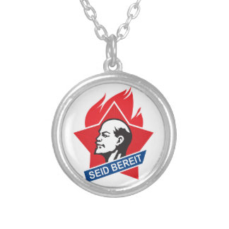 seid bereit - be prepared silver plated necklace