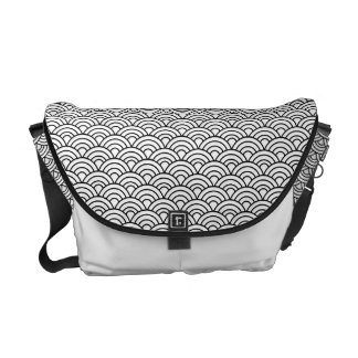 Seigaha Japanese Pattern Messenger Bag