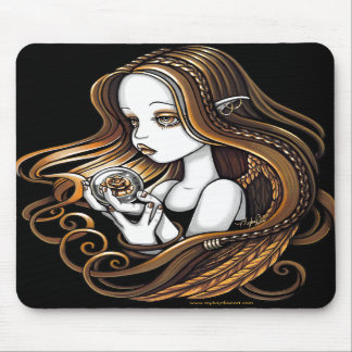 """Seika"" Amber Rose Crystal Ball Angel Mousepad"