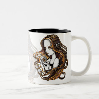 """Seika"" Amber Rose Crystal Ball Angel Mug"