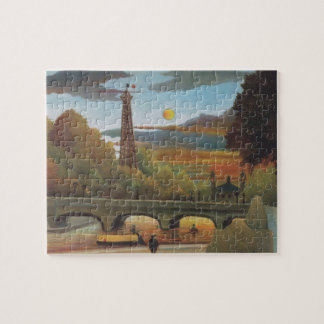 Seine and Eiffel Tower at Sunset by Henri Rousseau Jigsaw Puzzle