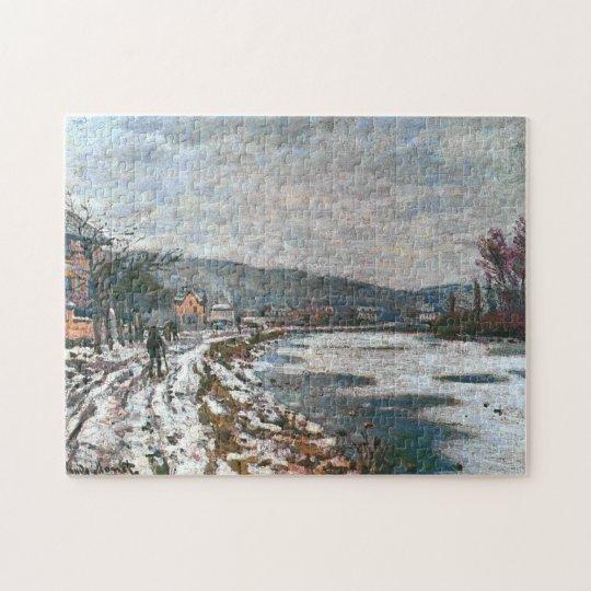 Seine at Bougival Monet Fine Art Jigsaw Puzzle