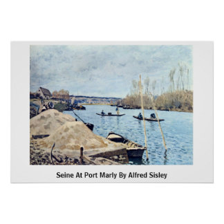 Seine At Port Marly By Alfred Sisley Print