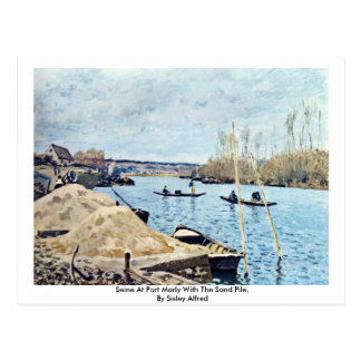 Seine At Port Marly With The Sand Pile Postcard