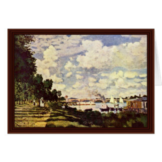 Seine Basin At Argenteuil By Claude Monet Card
