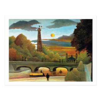 Seine & Eiffel Tower in the Sunset by Rousseau Postcard