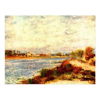 Seine in Argenteuil by Pierre Renoir Postcard