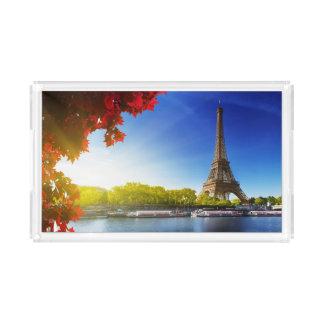 Seine In Paris With Eiffel Tower In Autumn Time