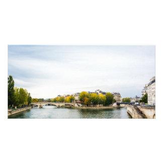 Seine river at Saint Louis island in Paris Photo Cards