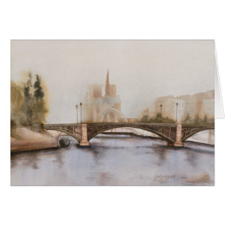 Seine River blank Card