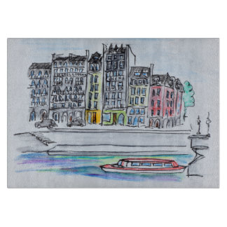 Seine River | Ile Saint-Louis, Paris Cutting Board