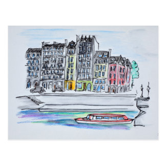 Seine River | Ile Saint-Louis, Paris Postcard