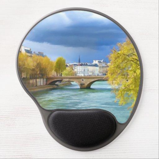 Seine River Under April Skies Gel Mouse Mats