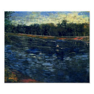 Seine with a Rowing Boat Van Gogh Fine Art Poster