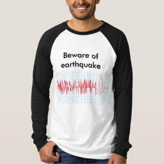 Seismograph and earthquake line on shirt. T-Shirt