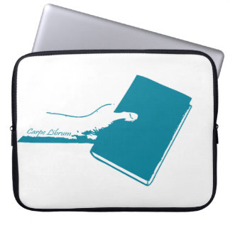 Seize the Book (Teal) Laptop Computer Sleeve