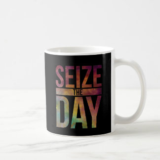 Seize the Day Black Coffee Mug
