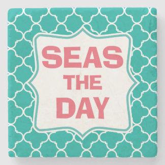 Seize the Day Funny Quote Stone Coaster