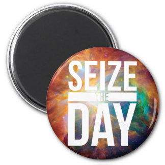 Seize the Day Nebula 6 Cm Round Magnet