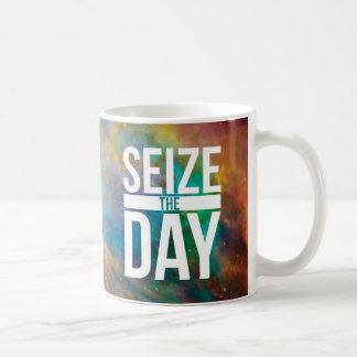 Seize the Day Nebula Basic White Mug