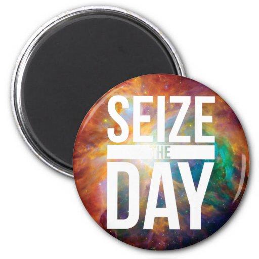 Seize the Day Nebula Refrigerator Magnet