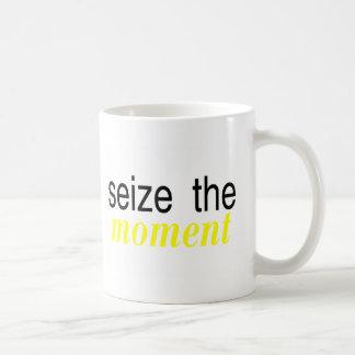 Seize The Moment Yellow Coffee Mug